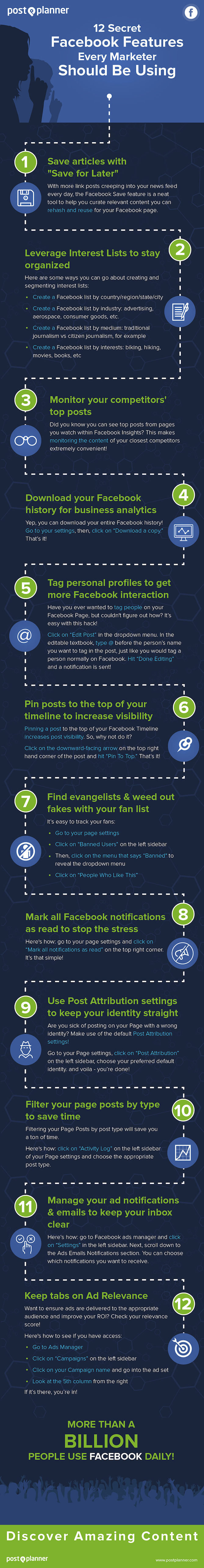 Secrets that every marketer should know and use in #Facebook #Infographic #SMM