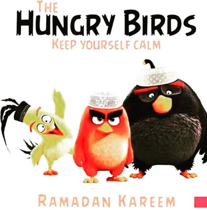 Hungry birds #Ramadan version of #Angry_Birds