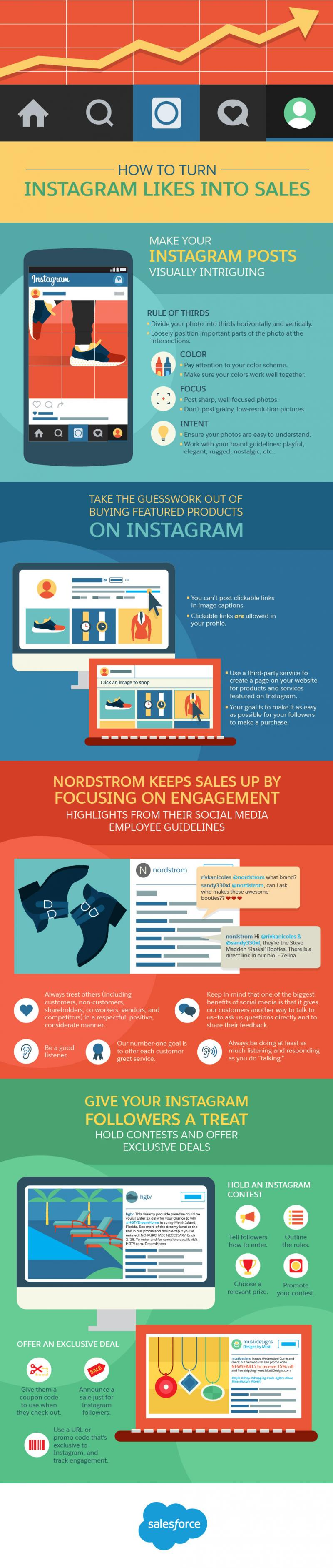 The Art of Turning Instagram Likes Into Sales #SMM #Infographic