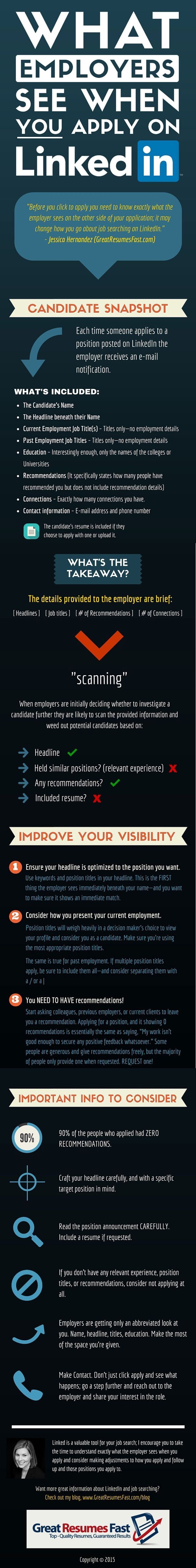 What employers see when you apply on #Linkedin #Infographic