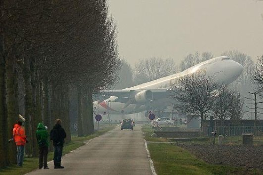 Emirates 747-400 taking off from rw2 at Schipol, #Netherlands