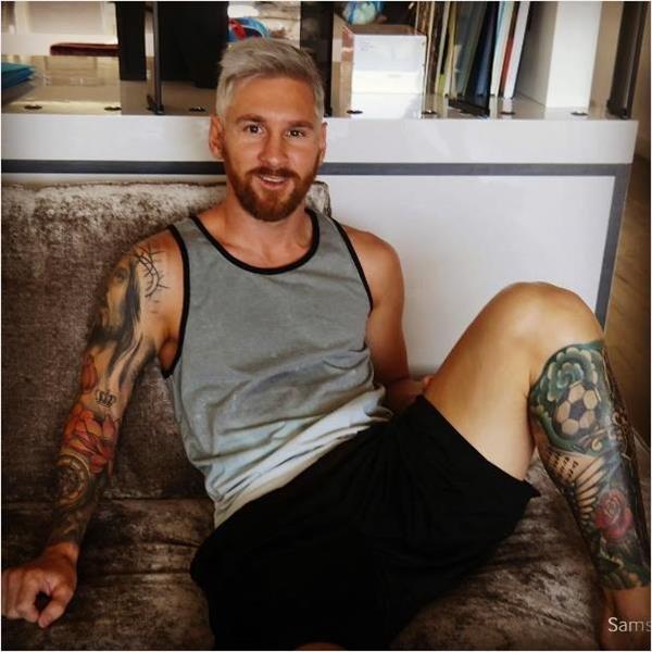 ميسي يفاجئ عشاقه بـ نيو لوك جديد بتغيرلون شعره ل اشقر قبل معسكر إنجلترا #برشلونة #كورة