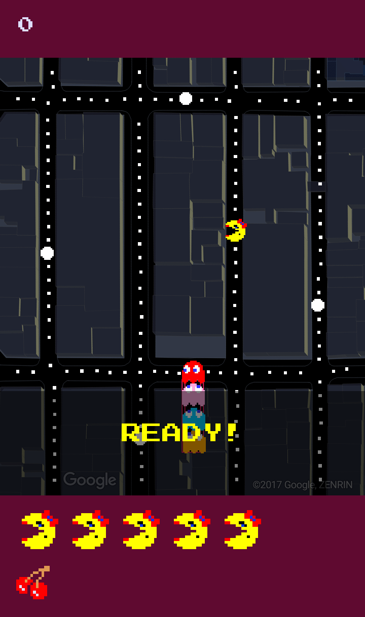 #جوجل تطلق لعبة باكمان #Bacman تجريبيا في خرائط جوجل