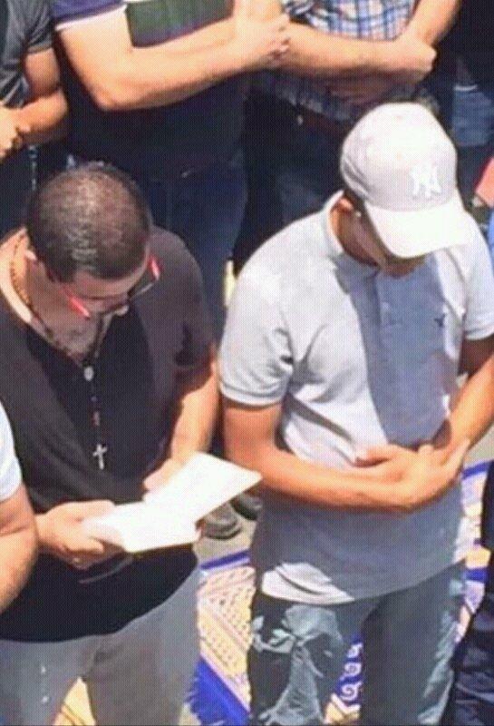 مشهد من اعتصام اهل #فلسطين #اغضب_للأقصى