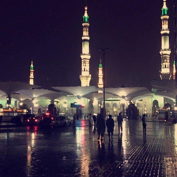 صور من #امطار_المدينه #المدينة_المنورة #السعودية - صورة ١
