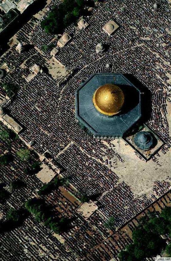 صورة لمسجد #قبة_الصخرة في #القدس #فلسطين