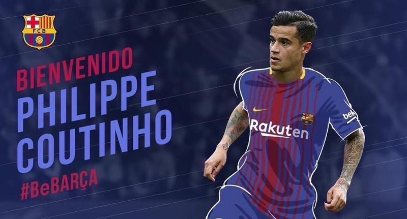 #كوتينيو ينضم رسميا الى #برشلونة مقابل ١٦٠ مليون يورو