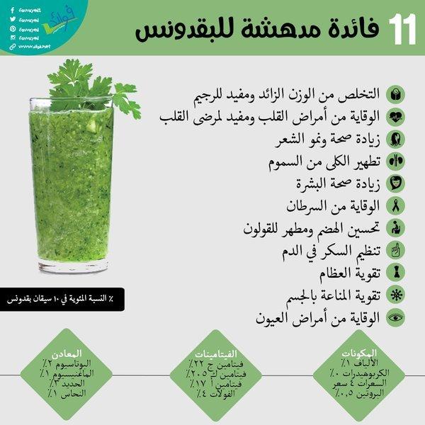 فوائد البقدونس لل #صحة #تخسيس #انفوجرافيك_عربي #انفوجرافيك