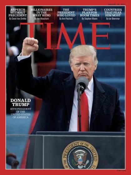 صفحات الغلاف لمجلة ال #Time الأمريكية والتي ظهر عليها الرئيس الأمريكي #ترامب #مشاهير - صورة ٥