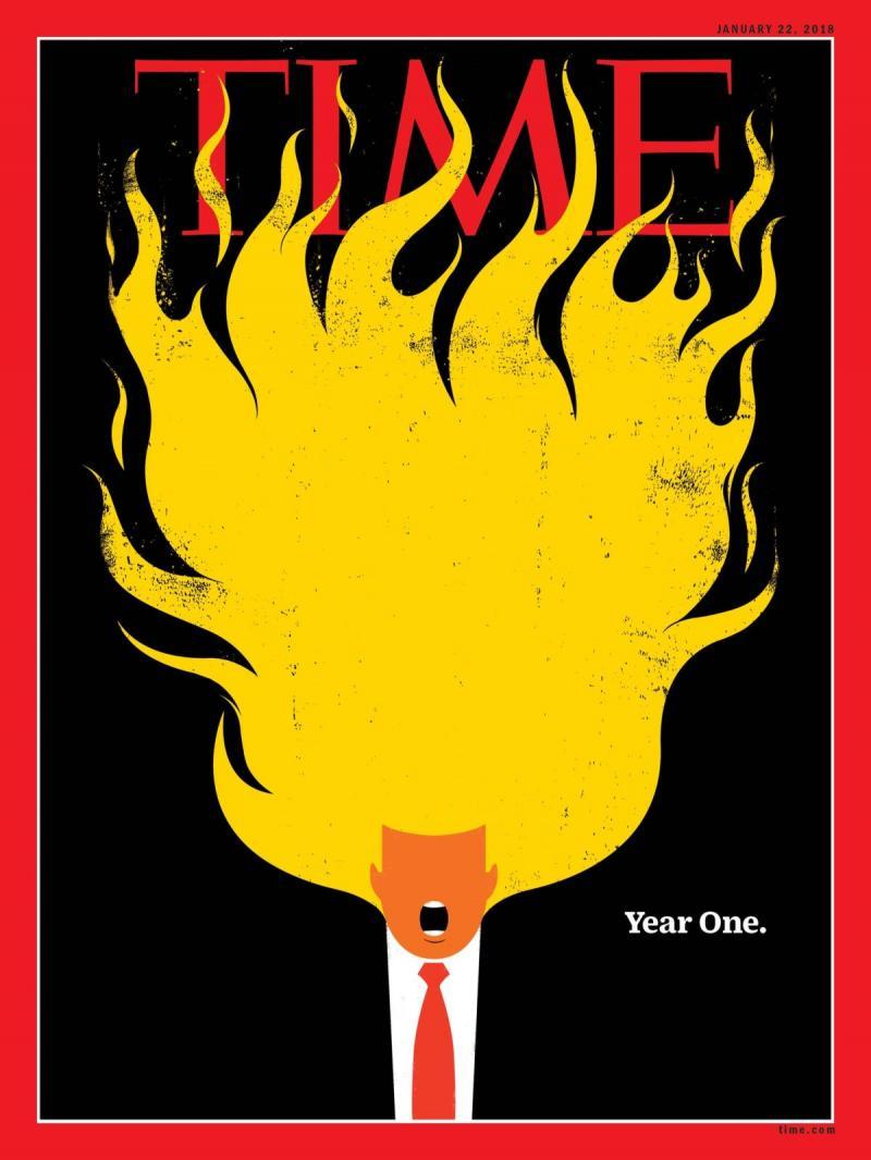 صفحات الغلاف لمجلة ال #Time الأمريكية والتي ظهر عليها الرئيس الأمريكي #ترامب #مشاهير - صورة ١