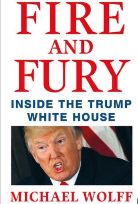 كتاب النار والغضب داخل البيت الأبيض ل #ترامب والذي أثار ردود أفعال غاضبة من الرئيس الأمريكي
