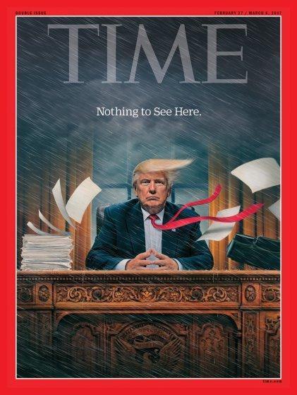 صفحات الغلاف لمجلة ال #Time الأمريكية والتي ظهر عليها الرئيس الأمريكي #ترامب #مشاهير - صورة ٤