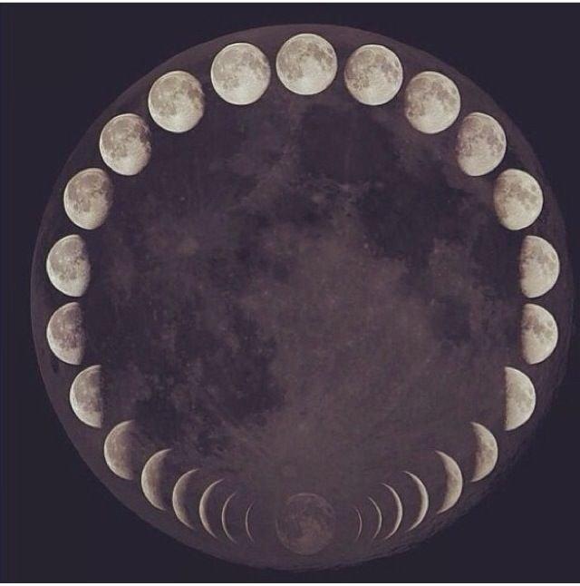 مراحل تشكل #القمر بجميع أطواره