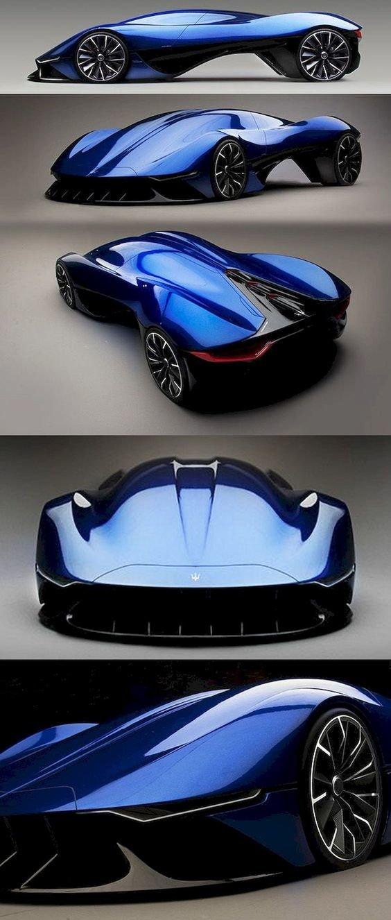 تصميم سيارة #maserati المستقبلي #سيارات