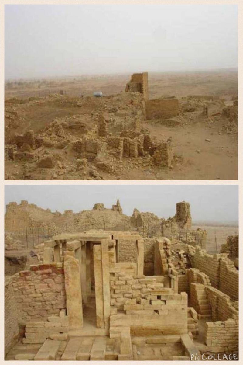 بقايا قصر #بلقيس في #اليمن والتي تم ذكر قصتها مع نبي الله سليمان في #القرآن الكريم - صورة ٣