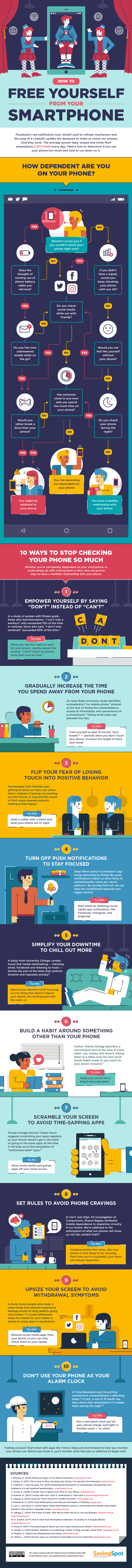 How to free your self from smart phones #Infographic