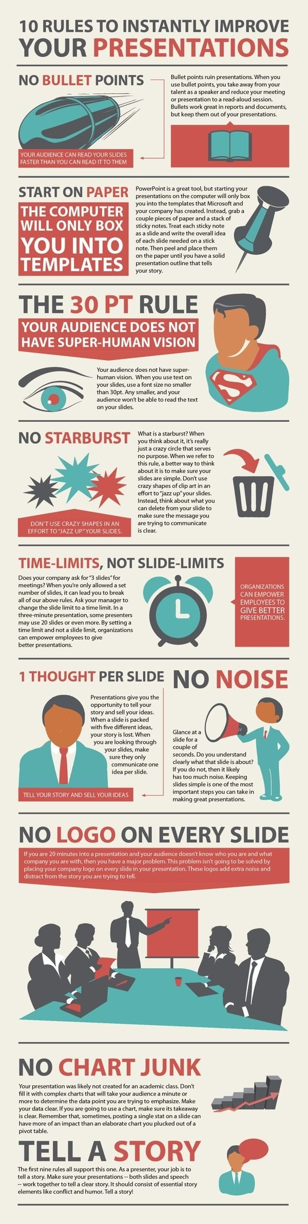 Rules to improve your presentations #Infographic