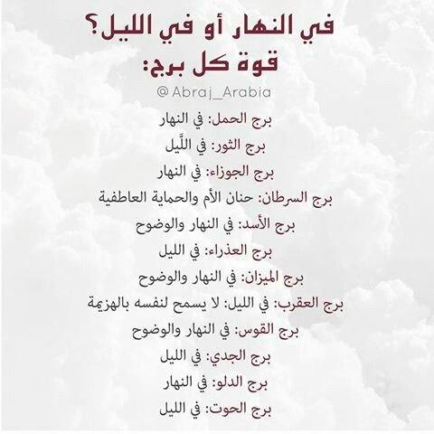قوة كل #برج في الليل أم في النهار لجميع #الأبراج #الجوزاء #الحمل #الميزان #الثور #العقرب #الحوت #الأسد #القوس #الدلو #العذراء #السرطان #الجدي