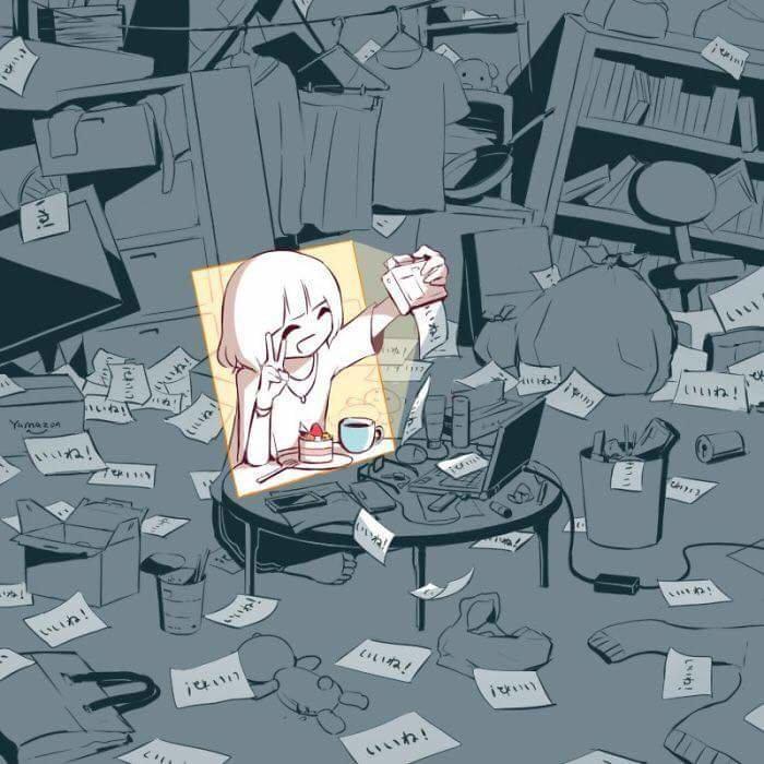 #لوحات عميقة المعنى لفنان ياباني يحمل اسم @avogado6 على #تويتر #فن - صورة ١٥