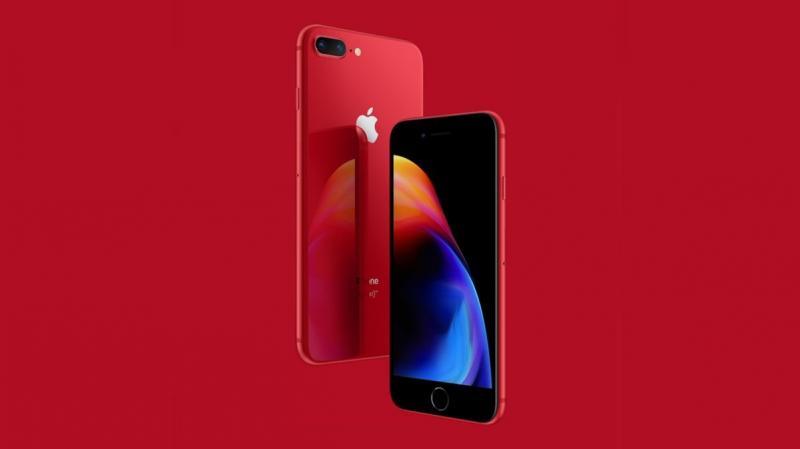 شركة #Apple تعلن عن هاتف #IPhone8 بلون احمر يذهب ريعه لعلاج مرضى الإيدز - صورة ١