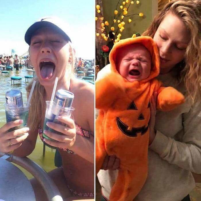 آباء وأمهات ينشرون صورهم قبل وبعد إنجاب الأطفال - صورة ١٤