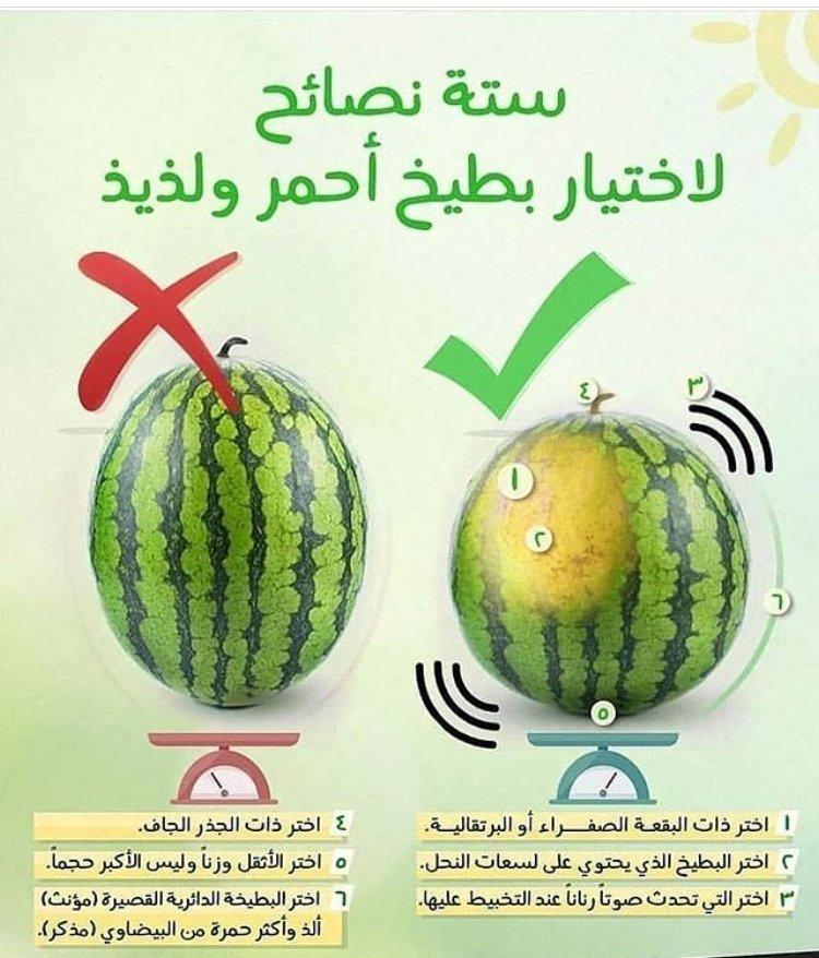 كيف تختار البطيخ الحلو