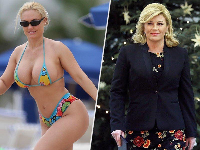 صور مزيفة لرئيسة #كرواتيا ترتدي #بكيني تنتشر على وسائط التواصل الاجتماعي #مشاهير #بنات - صورة ٤