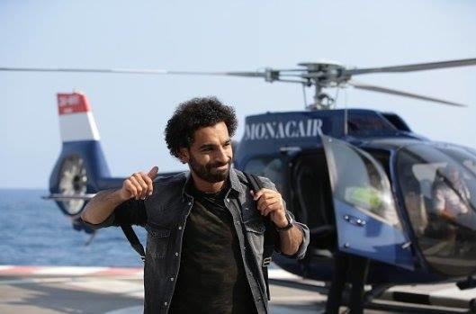 وصول النجم #محمد_صلاح @mosalah إلى #موناكو على متن هيليكوبتر #مشاهير - صورة ١