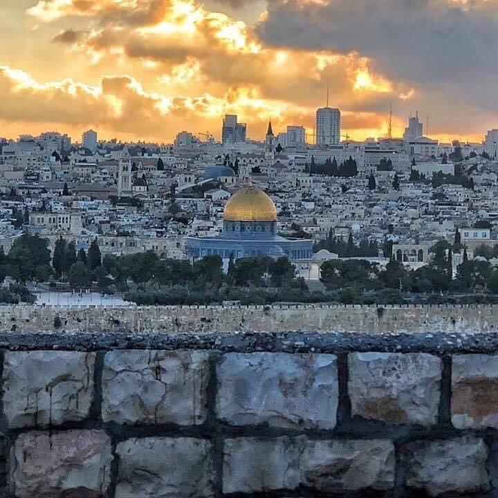 مسجد #قبة_الصخرة #القدس #فلسطين فجرا