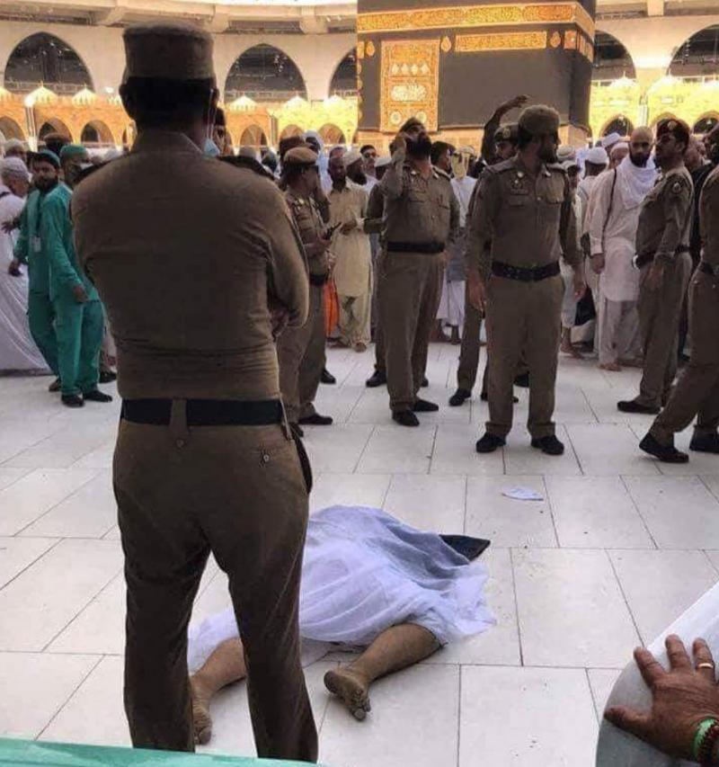 انتحار حاج من #العراق بقفزه إلى صحن المطاف #الحج #الكعبة #مكة #السعودية
