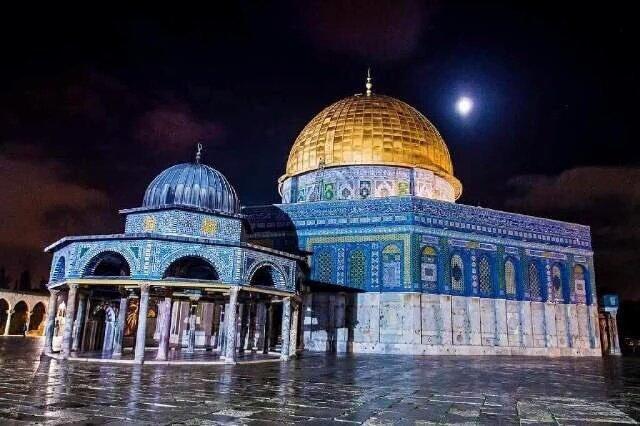 مسجد #قبة_الصخرة #القدس #فلسطين في الشتاء