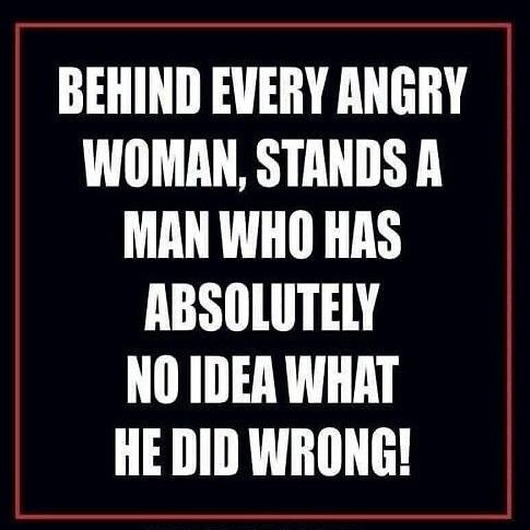 Behind every angry #woman