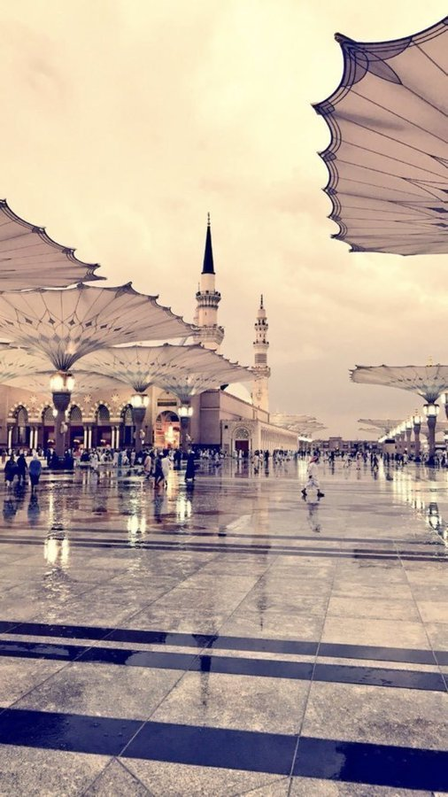 أمطار #المدينة_المنورة #الحرم_النبوي #السعودية - صورة ٢