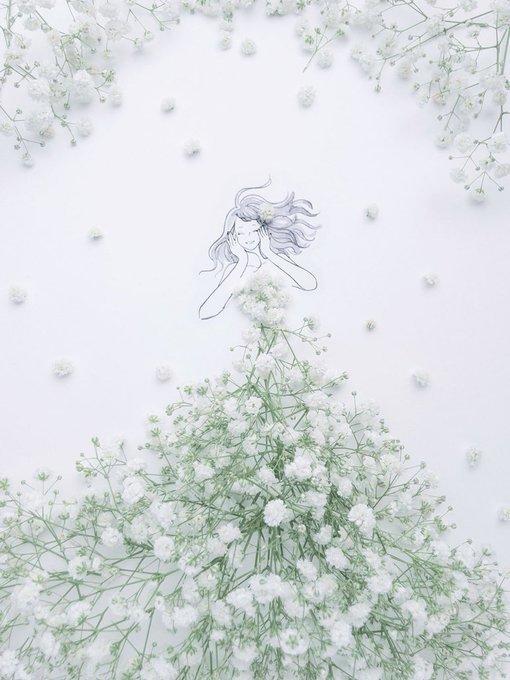 الفنانة اليابانية Hanaco Hanasakura تصمم لوحات #فساتين بالورود وأوراق الشجر #بنات - صورة ٩