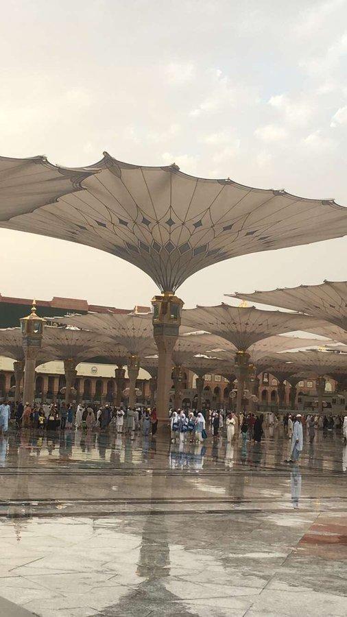 أمطار #المدينة_المنورة #الحرم_النبوي #السعودية - صورة ٣