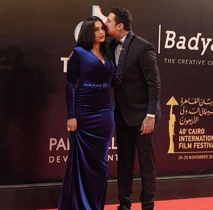 #أحمد_الفيشاوي وزوجته الجديدة #ندى_الكامل في مهرجان #القاهرة السينمائي #مصر #مشاهير - صورة ٣