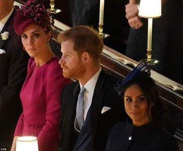 صورة نادرة للأمير هاري وهو لا ينظر لزوجته #نهفات #نكت