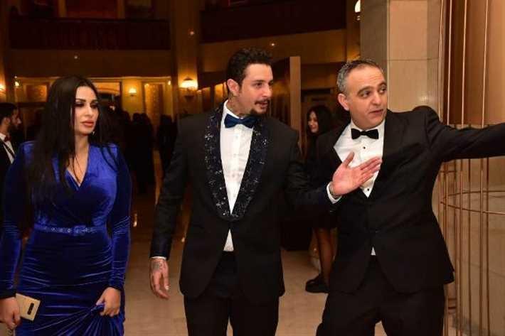 #أحمد_الفيشاوي وزوجته الجديدة #ندى_الكامل في مهرجان #القاهرة السينمائي #مصر #مشاهير - صورة ٢