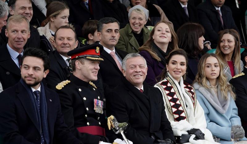 صور من حفل تخريج سمو #الأميرة_سلمى ابنة جلالة الملك #عبدالله_الثاني ملك #الأردن من أكاديمية ساند هيرست #مشاهير - صورة ٥