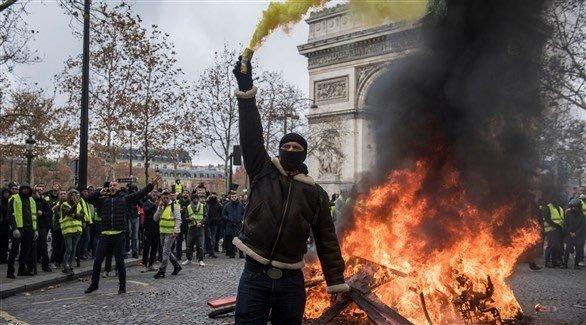 صور من مظاهرات #باريس #فرنسا - صورة ٣