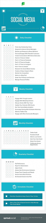 Advanced #Social_Media checklist #SMM #Infographic