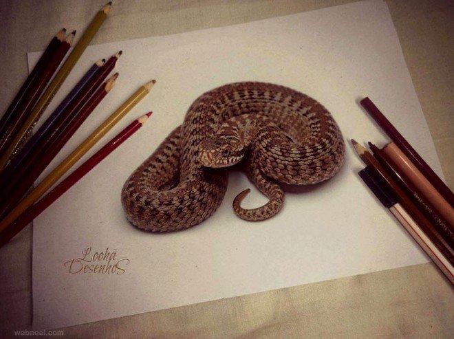 لوحات فنية #3D باستخدام أقلام الرصاص والجرافيت #فن - صورة 9
