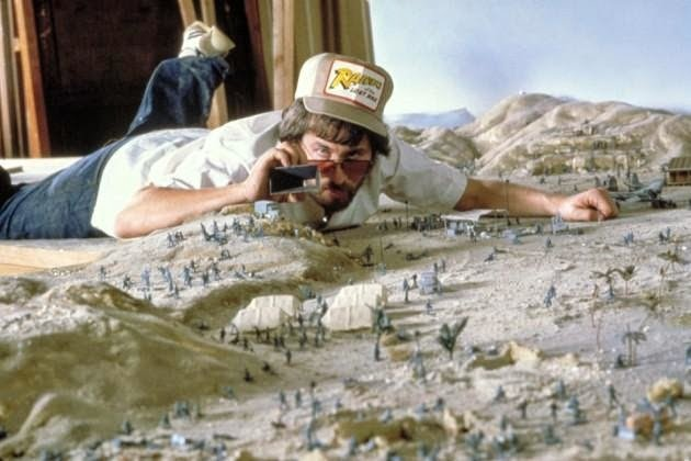 Steven Spielberg taking photos of some of the set pieces that were made as miniatures for the first Indiana Jones movie Raiders of the Lost Ark #History