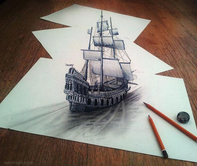 لوحات فنية #3D باستخدام أقلام الرصاص والجرافيت #فن - صورة 10