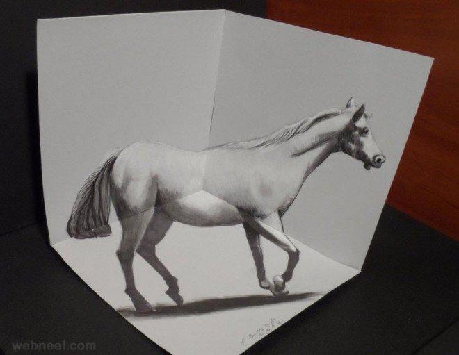 لوحات فنية #3D باستخدام أقلام الرصاص والجرافيت #فن - صورة 7