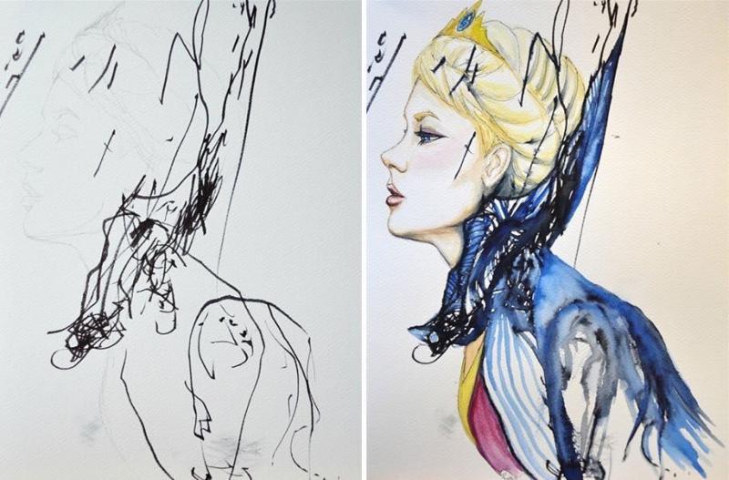 أم تحول خربشات طفلتها للوحات فنية #فن - صورة ٤