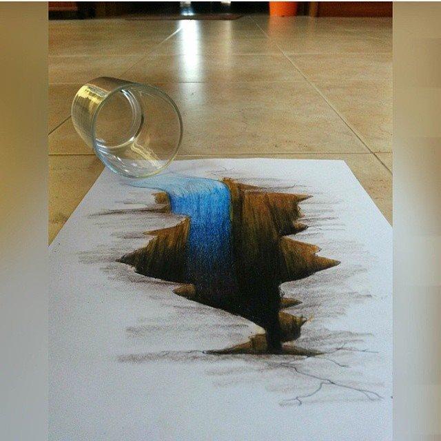 لوحات فنية #3D باستخدام أقلام الرصاص والجرافيت #فن - صورة 1