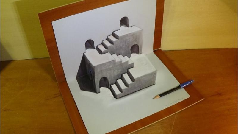 لوحات فنية #3D باستخدام أقلام الرصاص والجرافيت #فن - صورة 24