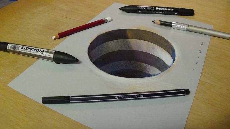 لوحات فنية #3D باستخدام أقلام الرصاص والجرافيت #فن - صورة 25