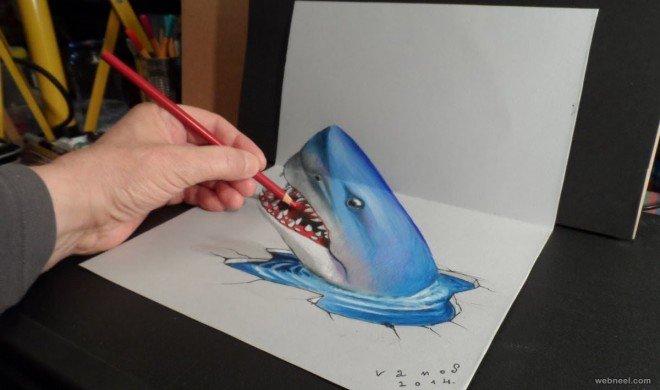 لوحات فنية #3D باستخدام أقلام الرصاص والجرافيت #فن - صورة 3